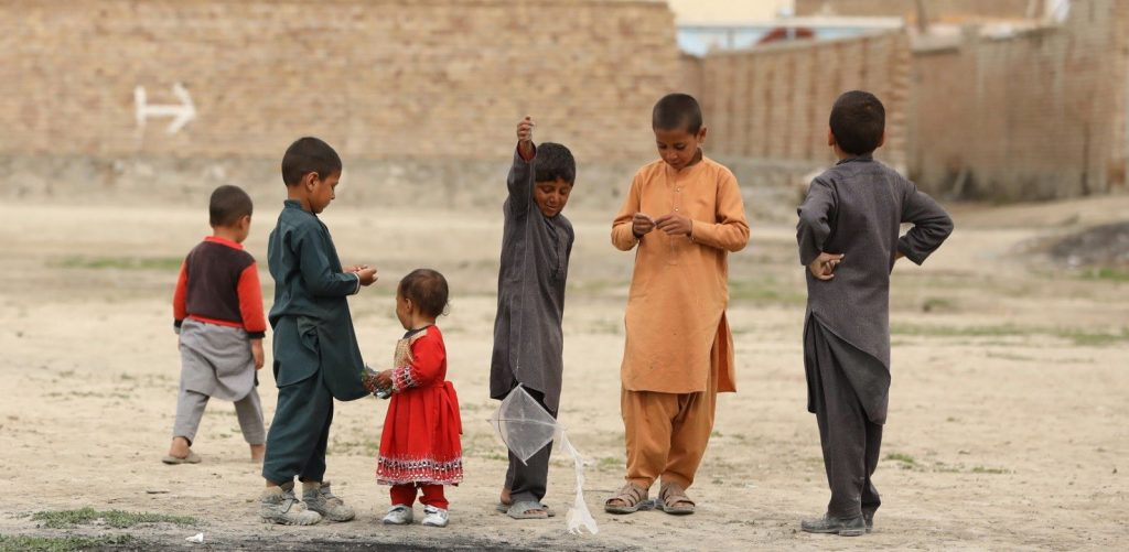 Kids playing in Afghanistan